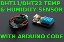 DHT11 DHT22 Temperature and Humidity Sensor with Arduino Code