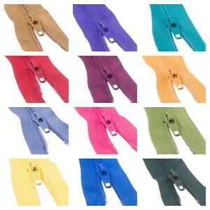 "10 x Nylon Trebla Autolock Zips Size 3 Closed End  6"" 7"" 8"" 10"" 12"" 49 COLOURS!"
