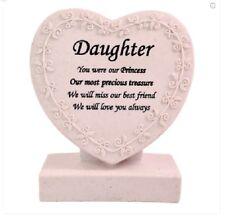 Memorial/Grave Heart ~ CremationMarker/Plaque ~ DAUGHTER