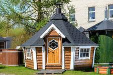 9,2m² Grillkota & Grillanlage Pavillon Gartenhaus Grillhütte Kota Grillhaus Holz