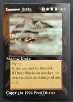 MTG Middle Ages Sticker Card - Shadow Drake - 1994 Magic the Gathering