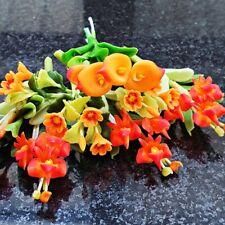 Mini Orange Clay Flower Dollhouse Miniature Fairy Garden Supply Decor Mixed Lot