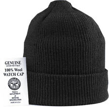 Military 100% Wool Knit Winter Hat Wool Watch Cap USA Made