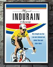 Miguel Indurain tour de france cycling poster art print