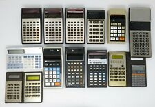 Lotto calcolatrici Texas Instruments calculator red leds vintage anni 70 ricambi