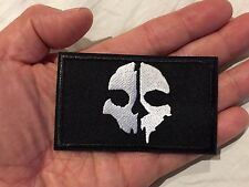 SKULL Ghost Recon Biker Motorcycle DIY Iron-On Embroider Patch