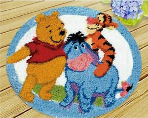 DIY Disney's Eeyore Tigger Winnie the Pooh Latch Hook Rug Gift idea Kids room UK