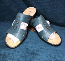 Clark's Bendables Teal Blue Sandals Women's Size 11W