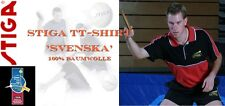 Stiga Polo Shirt Svenska rot/schwarz 100% Baumwolle   - neu