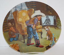 """""""Cowboy Capers"""" 1981 The Children's Hour Series by Mike Hagel Collector Plate"""
