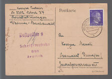 1943 Germany Buchenwald Concentration Camp Postcard Cover to Poland