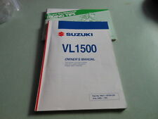 Suzuki OEM VL1500 Owner Manual Book # 99011-10F58-03A