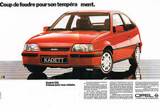 PUBLICITE ADVERTISING  1985   OPEL  KADET  GSI ( 2 pages)