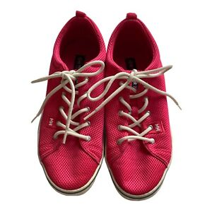 Helly Hansen Hot Pink Mesh Light Sneaker Trainers Flat Casual Shoe Lace Up Euc 9