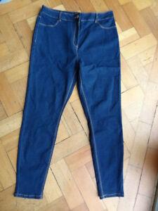 (199MAY) NEW! Size 16 *PAPAYA* Cute blue stretch skinny jeans ladies/womens