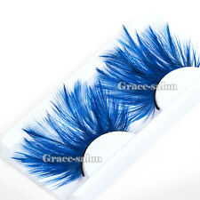 Makeup Fancy Eyelashes Feather Eye Lashes Cosplay Party Stage Halloween Cosmetic