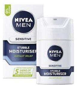 2 x NIVEA For Men - Sensitive Stubble Moisturiser - 50ml EACH