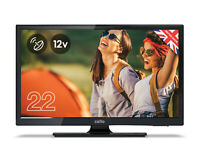 """CELLO 22"""" inch 12 volt LED TV FREEVIEW HD 1080P  2 HDMI 2 USB 12v CARAVAN TV"""