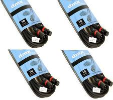10m DMX Kabel mit 3pol. XLR Stecker 110 Ohm 4 Stück im Set XLR Lichtkabel DMX