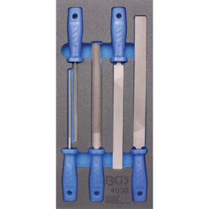 BGS Werkstattwageneinlage 1/3 mit Feilen-Satz 5-teilig Werkzeug Werkstattwagen