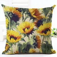 Floral Tropical Plant leaves Pillow Case Cotton Linen Cushion Cover Home Decor