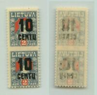Lithuania 🇱🇹 1922 SC 152 mint missing perf pair . f3119