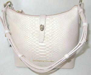 Dooney & Bourke Caldwell Hobo Bag Metal Blush Very Light Pink NWT $298