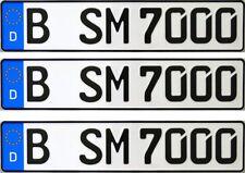 3 Stück EU KFZ Kennzeichen • Nummernschilder • Autoschilder • Autokennzeichen