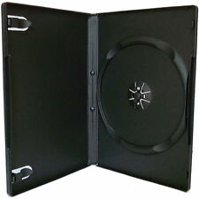 100 X Single CD DVD Blu ray Case Black 14mm Spine HIGH QUALITY