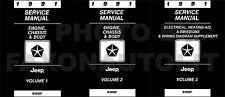 1991 Jeep Shop Manual Set Wrangler Cherokee Comanche Grand Wagoneer Service