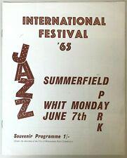 BEN WEBSTER 'HUMPH' BUCK CLAYTON 1965 Jazz Fest Programme Summerfield Birmingham