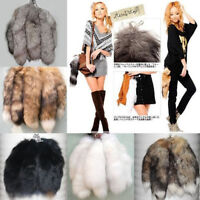 Large Soft Fluffy Faux Fox Fur Tail Keychain Tassel Hand Bag Hanging Pendant