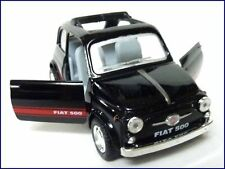 "KINSMART 4.7"" FIAT 500 WITH OPENED AND CLOSED SUNROOF BLACK COLOR CAR KT5004D"