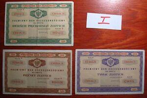 Poland  3 x Deposit vouchers  1971 y. 1 x Set