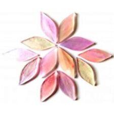 Rosebud Pink handcut Tiffany Petals- Glass for Mosaics, 12 pieces.