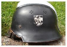 Original WW2 German Helmet With Liner & Chinstrap WWII