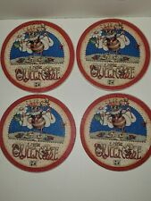 Rare Mary Engelbreit Cork Backed Coasters Stone front Me Artwork Queen Bee
