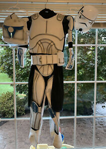 Rubies Boy's Deluxe Classic Clone Trooper3D Costume Star Wars Size Boys M 6-10