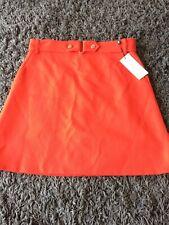 Karen Millen Cinch Waist A-Line Skirt In Red Size 14