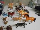 Lot of small horses  Breyer Ertl Just Play 22 Horses & some saddles