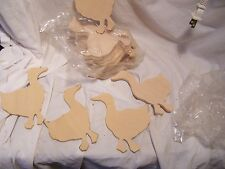 Duck Goose Unfinished Wood Shapes Craft Supplies Cut Outs DIY Magnets Preschool