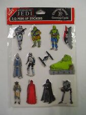 VINTAGE SEALED! 1983 Star Wars: Return of the Jedi Puffy Stickers Aufkleber 3D