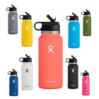 Hydro Flask Water Bottle Stainless Steel 32oz Wide Mouth Straw Lid