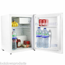 Quality 70 Litre Compact Counter Top Table Small Mini Drinks Fridge In White