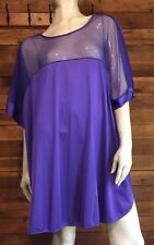 Vintage Lady Extraordinaire Purple Plus Size 4X Nightgown #9552
