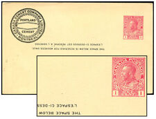 CANADA 1913 1¢ ADMIRAL PSC HEADING INVERTED Webb P44a