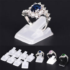 10Pcs Ring Show Plastic Frosted Jewelry Displays Holder Decoration Stand new UNR