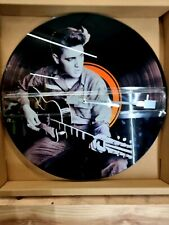 Large 40cm Glass Elvis Presley Records Wall Clock