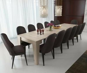 Tavolo da pranzo consolle allungabile 3 metri 14 posti rovere salvaspazio cucina