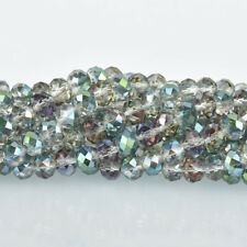 8mm Crystal Rondelle Beads, NORTHERN LIGHTS, Faceted Glass Beads, bgl1320
